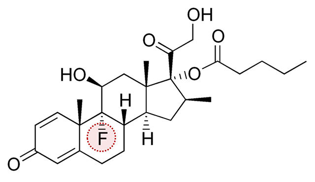 類固醇,fluorinated,betamethasone,valerate,氟