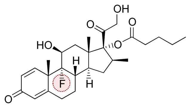 類固醇,fluorinated,betamethasone,valerate,氟